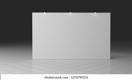 Banner 3x5 meters. Realistic 3d render. Template for your design.
