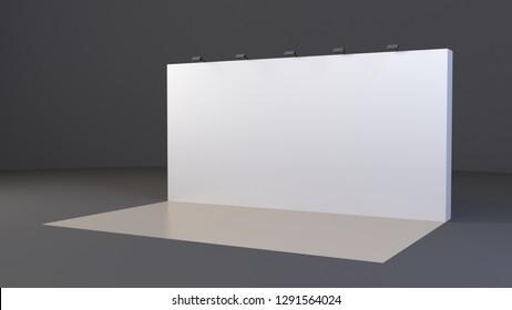Banner 3x6 metre. 3d render. Mockup