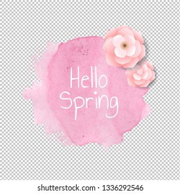 Banner Blob With Flowers Transparent Background