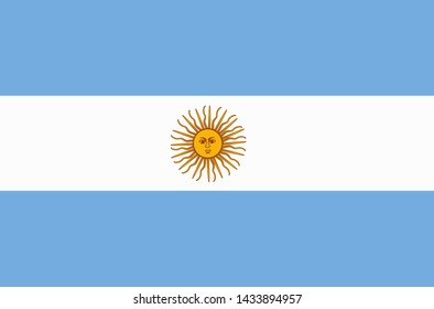Banner with flag of Argentina. Colorful illustration with flag for web design. Banner without background.
