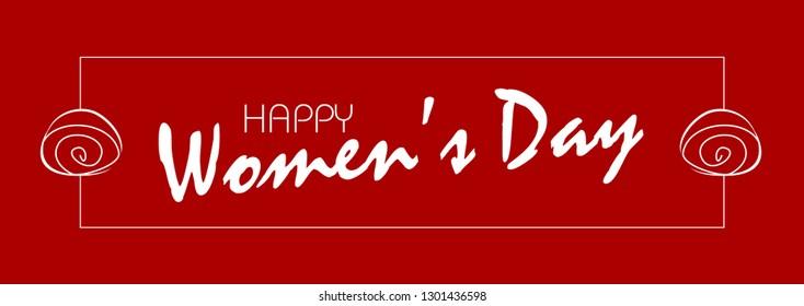 Banner Happy Women's Day