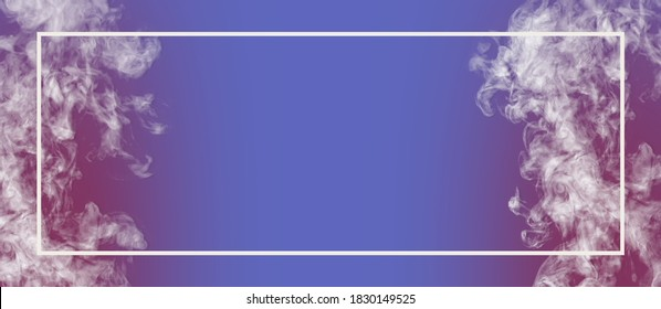 Banner image with smoke on the blue background for design