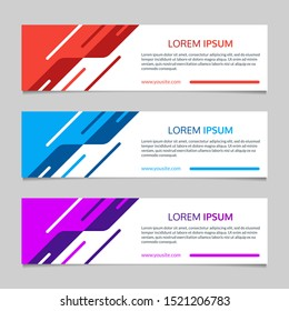Banner layout with abstract geometric design. Template for web, website, header or footer, sale or presentation cards.