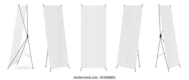 Banner mock up isolated on white background. Spider. 3D illustration.