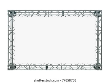 banner on truss