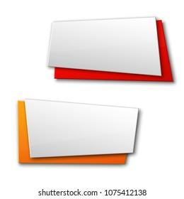 Banner presentation, ribbon information. Graphic composition business presentations. Four glossy banners strip your annotations. Four color sticker banner for registration of proposals ribbon