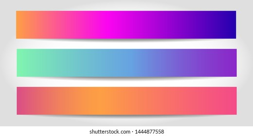 Banners with abstract background. Colorful modern website headers or footers design