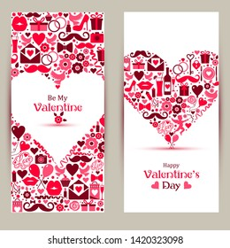 banners set of Valentine Day.