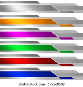 Banners. Six colors