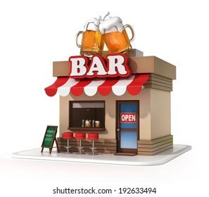 bar 3d illustration