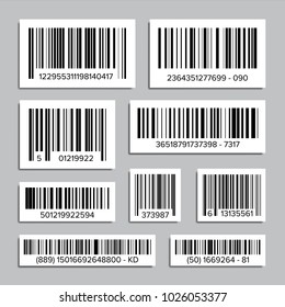 Bar Code Set. Universal Product Scan Code. Isolated Illustration