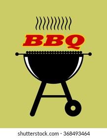 Barbecue design illustration.