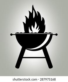 Barbecue grill icon.