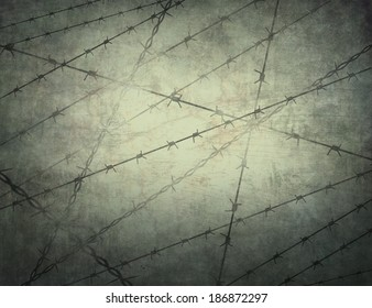 Barbed wire on the texture.