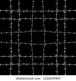 Barbed wire seamless background or texture isolated