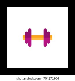 Barbell Colorful icon on white square background. Flat symbol illustration
