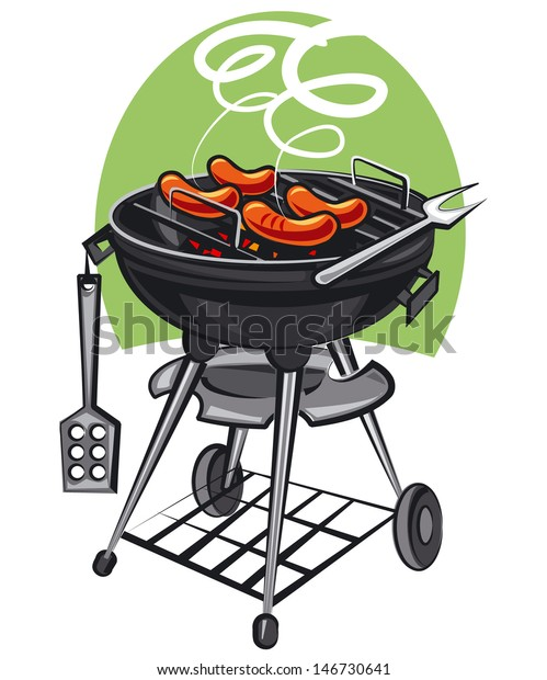 Barbeque Grill Stock Illustration 146730641