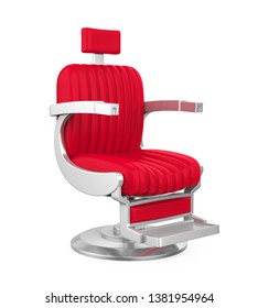Barber Chair Isolated. 3D rendering