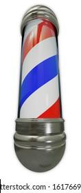 barber shop sign spiral pole men haircut salon 3D illustration