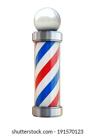 barbershop pole isolated on white