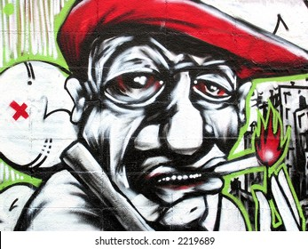 Barcelona Graffiti, Red Hat Close-up
