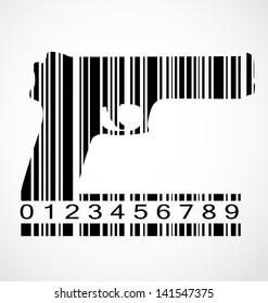Barcode gun image illustration 592d68385762