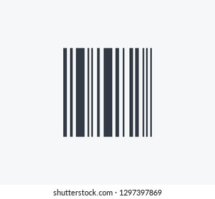 Barcode icon isolated on clean background. Barcode icon concept drawing icon in modern style.  illustration for your web mobile logo app UI design.