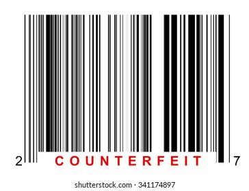 Barcode for identifying all kinds of counterfeit goods