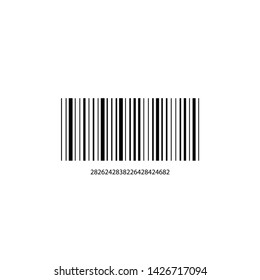 Barcode with numbers on a white background