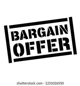 bargain offer stamp on white background. Sign, label, sticker.