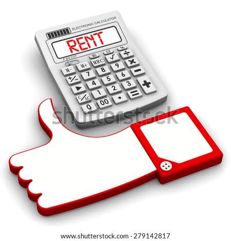 bargain rent financial concept gesture approval stock illustration
