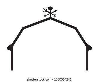 Barn silhouette outline