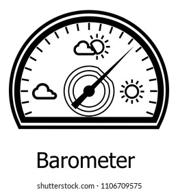 Barometer icon. Simple illustration of barometer icon for web