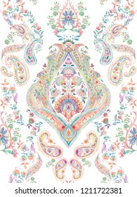 Baroque damask pattern, delicate mechanism, delicate shading, elegant pattern,White background