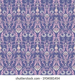 Baroque floral pattern. classic floral ornament