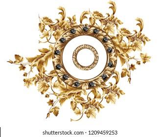 baroque gold leaf frame