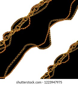 Baroque golden chain background