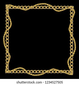 Baroque golden chain background . Scarf Print
