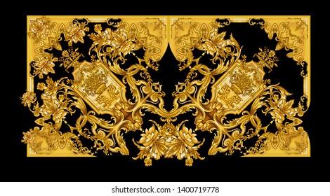 Baroque Pattern hand drawn illustration artwork