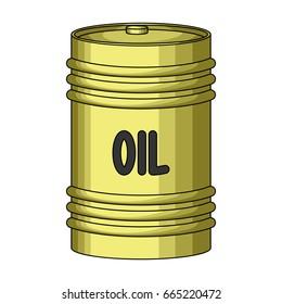 Barrel of oil.Oil single icon in cartoon style bitmap,rastr symbol stock illustration web.