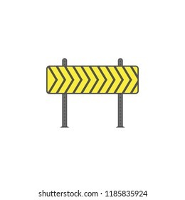Barricade colored icon. Element of road signs and junctions icon for mobile concept and web apps. Colored Barricade can be used for web and mobile