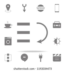 bars graphic descending icon. web icons universal set for web and mobile on white background