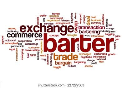 Barter word cloud concept