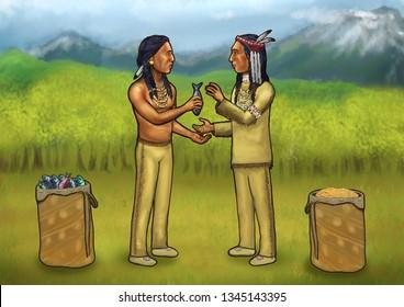 bartering, trade, Native American Culture