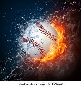 Baseball On Fire Images Stock Photos Vectors Shutterstock