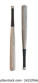 baseball bat isolated on white background 3d illustration