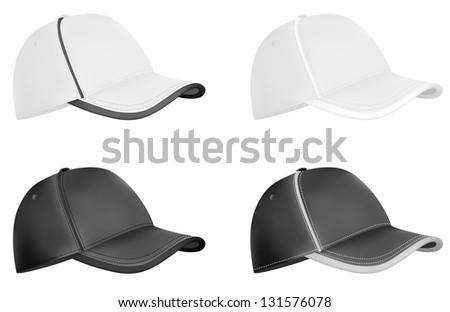 baseball caps template stock illustration 131576078 shutterstock
