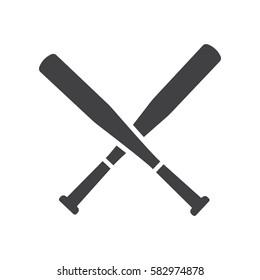 Baseball Crossed Bats icon.