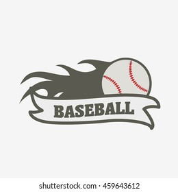 baseball ball fire flame vector icon stock vector royalty free