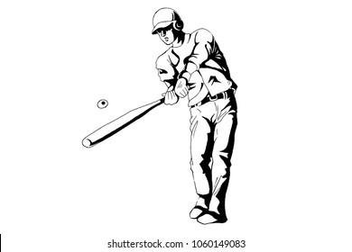 baseball monochrome sketch